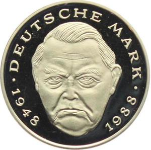 Germany / Two Marks 2000 Ludwig Erhard (mint sets only) - obverse photo