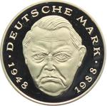 Germany / Two Marks 2000 Ludwig Erhard (mint sets only) / Proof 2000 D (Munich Mint) - obverse photo