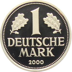 Germany / One Mark 2000 (mint sets only) - reverse photo