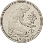 Germany / Fifty Pfennigs 1993 - obverse photo