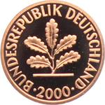 Germany / One Pfennig 2000 (mint sets only) - obverse photo