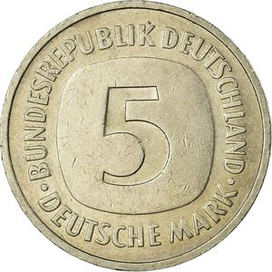 Germany / Five Marks 1975 - reverse photo