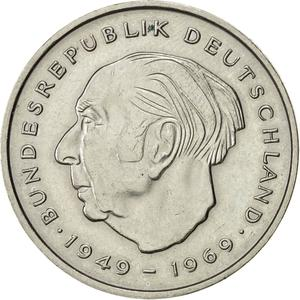 Germany / Two Marks 1970 Theodor Heuss - obverse photo