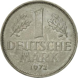 Germany / One Mark 1972 - reverse photo