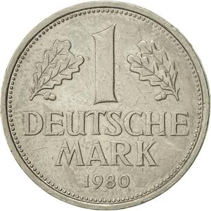 Germany / One Mark 1980 - reverse photo