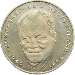 Germany / Two Marks 1994 Willy Brandt - obverse photo
