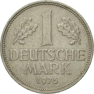 Germany / One Mark 1975 - reverse photo