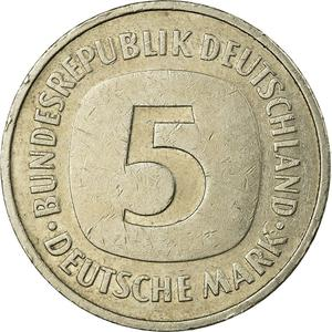 Germany / Five Marks 1983 - reverse photo