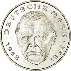 Germany / Two Marks 1992 Ludwig Erhard - obverse photo