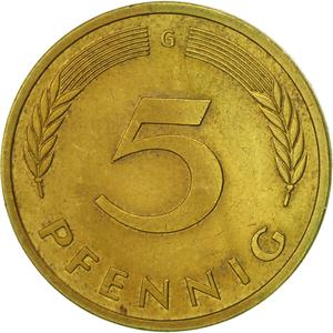 Germany / Five Pfennigs 1983 - reverse photo