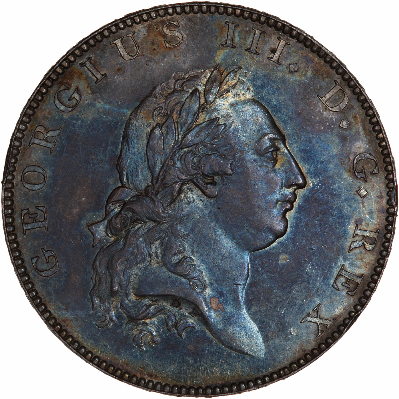 Halfpenny (Pattern): Photo Pattern Coin - Halfpenny, George III, Great Britain, 1788