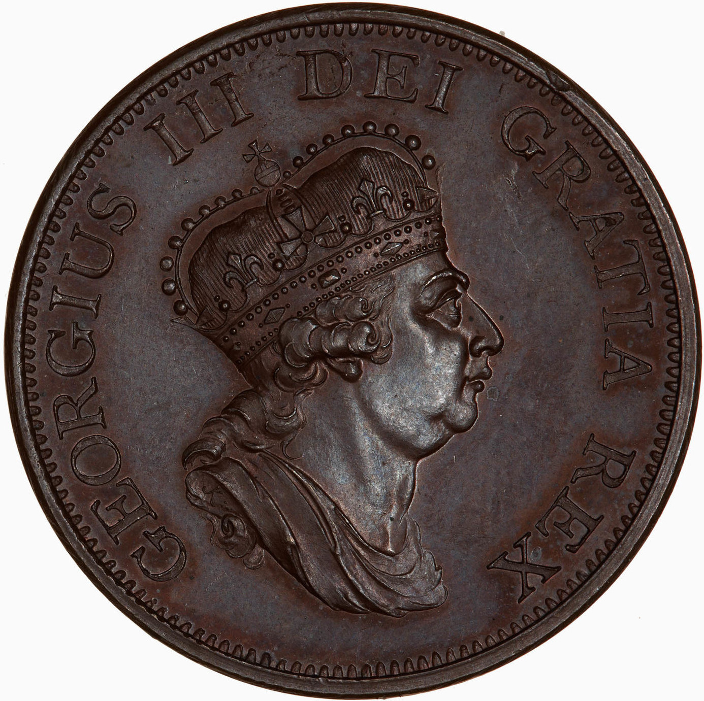 Halfpenny (Pattern): Photo Pattern Coin - Halfpenny, George III, Great Britain, 1799