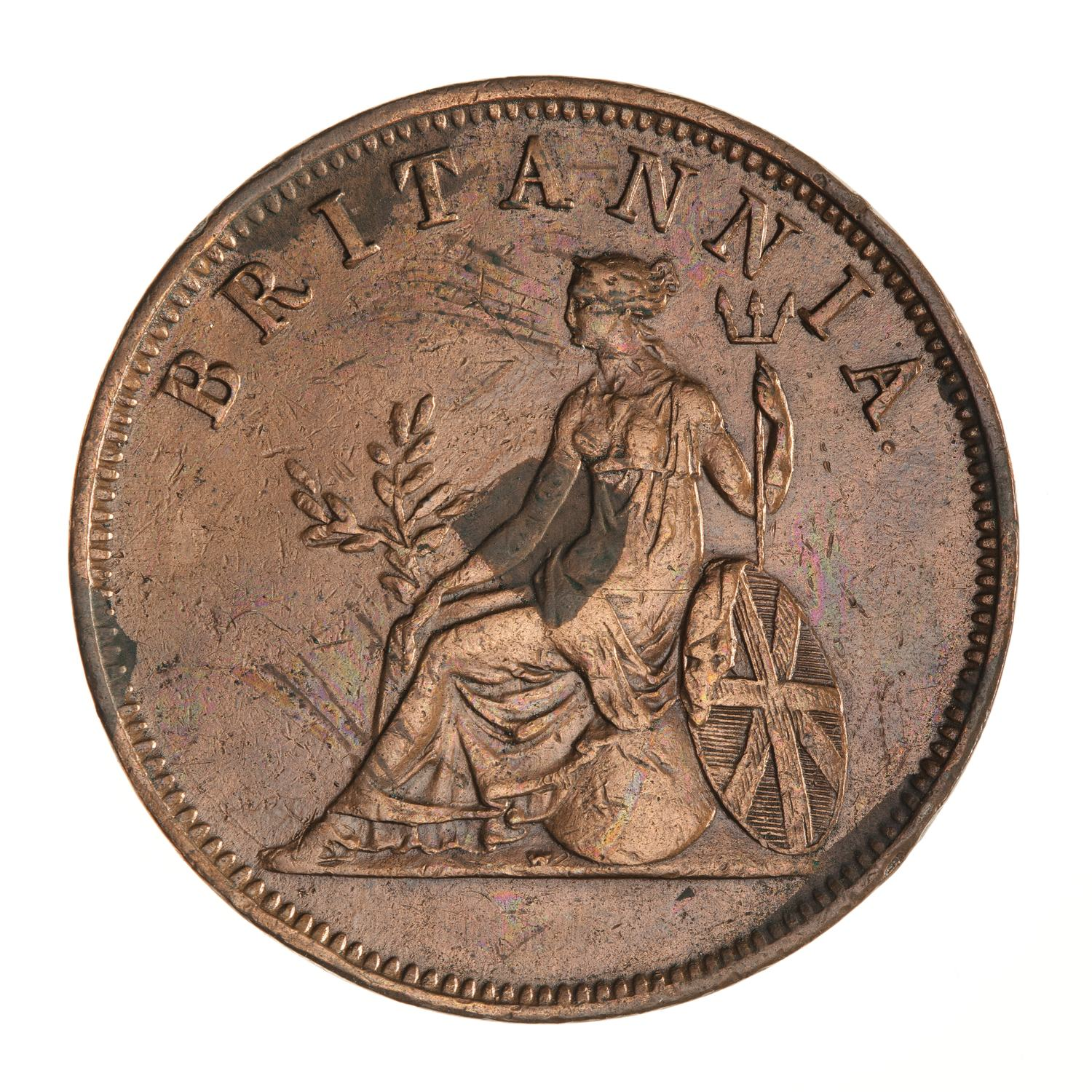 One Obol: Photo Coin - 1 Obol, Ionian Islands, Greece, 1819