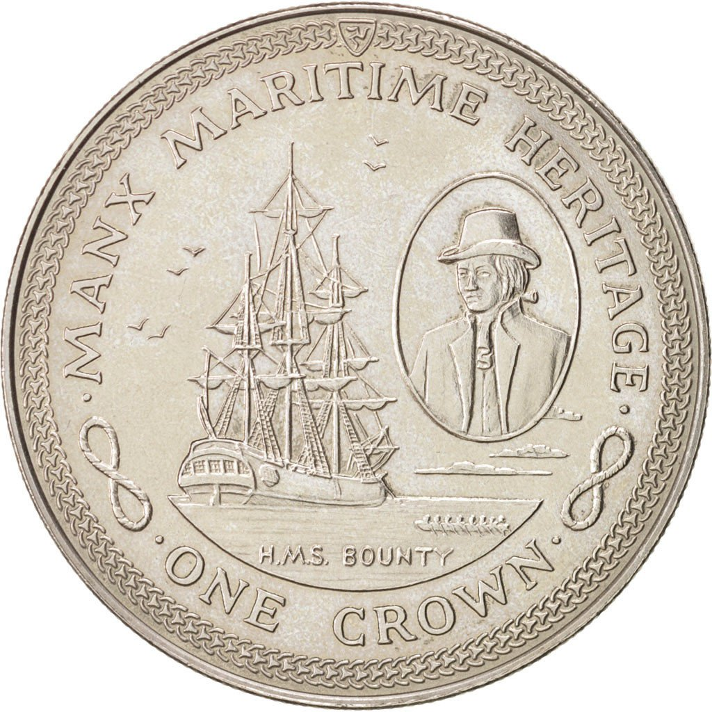 One Crown 1982 HMS Bounty: Photo Coin, Isle of Man, One Crown 1982 HMS Bounty