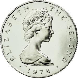 Isle of Man / One Pound 1976 Platinum - obverse photo