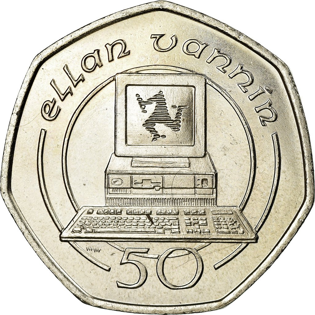 Fifty Pence 1988: Photo Coin, Isle of Man, Fifty Pence 1988