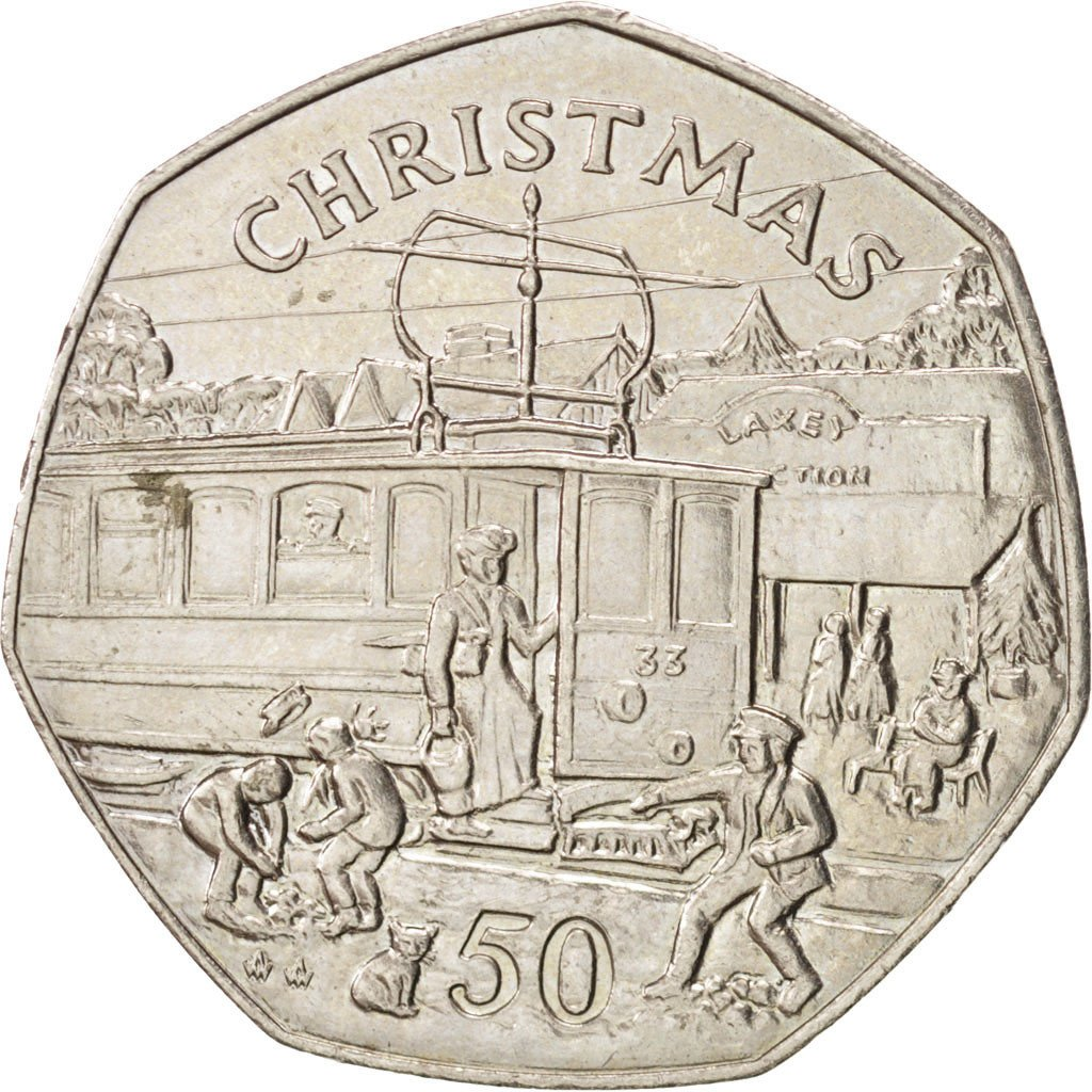 Fifty Pence 1989 Christmas: Photo Coin, Isle of Man, Fifty Pence 1989 Christmas