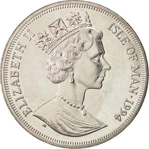 Isle of Man / One Crown 1994 Zeppelin - obverse photo