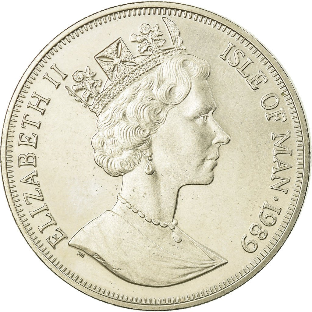 One Crown 1989: Photo Coin, Isle of Man, One Crown 1989