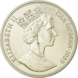 Isle of Man / One Crown 1989 - obverse photo