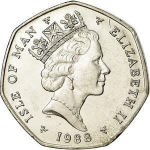 Isle of Man / Fifty Pence 1988 - obverse photo