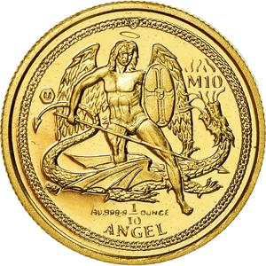 Isle of Man / Gold Tenth-Ounce 2015 Angel - reverse photo