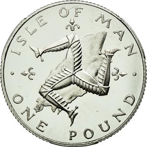 Isle of Man / One Pound 1976 Platinum - reverse photo
