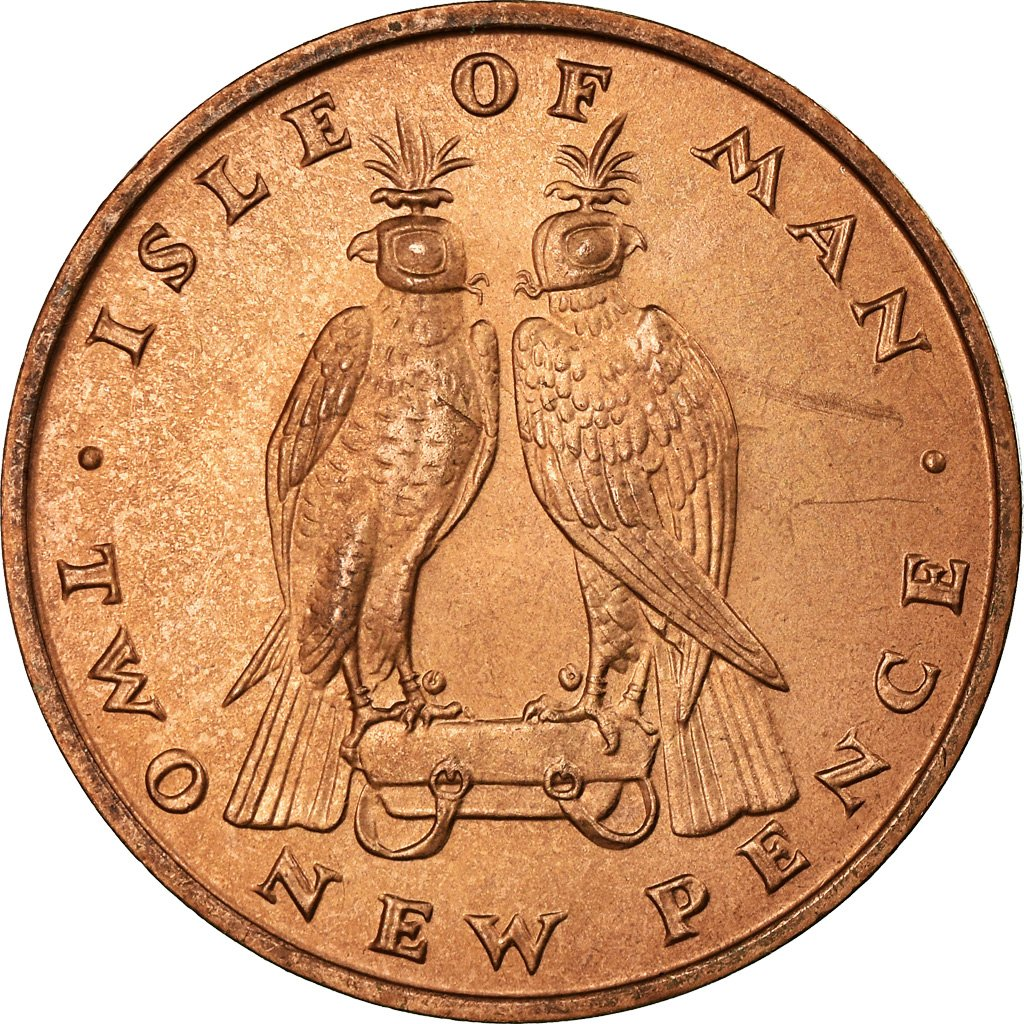 Two Pence 1971: Photo Coin, Isle of Man, Two Pence 1971
