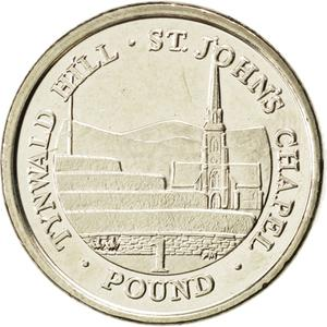 Isle of Man / One Pound 2011 Tynwald Hill - reverse photo