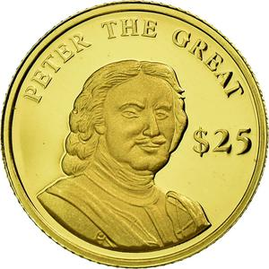 Liberia / Gold Twenty-five Dollars 2000 Peter the Great - obverse photo