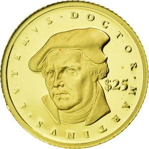 Liberia / Gold Twenty-five Dollars 2000 Martin Luther - obverse photo