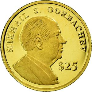 Liberia / Gold Twenty-five Dollars 2000 Gorbachev - obverse photo