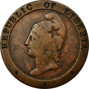 Liberia / Two Cents 1862 - obverse photo