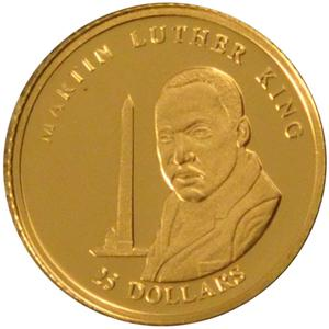 Liberia / Gold Twenty-five Dollars 2001 Martin Luther King - obverse photo