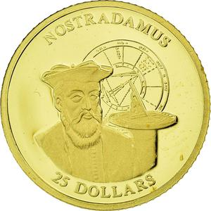 Liberia / Gold Twenty-five Dollars 2001 Nostradamus - obverse photo