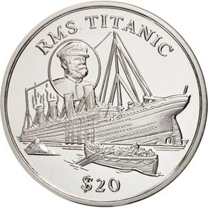 Liberia / Silver Twenty Dollars 1998 Titanic - obverse photo