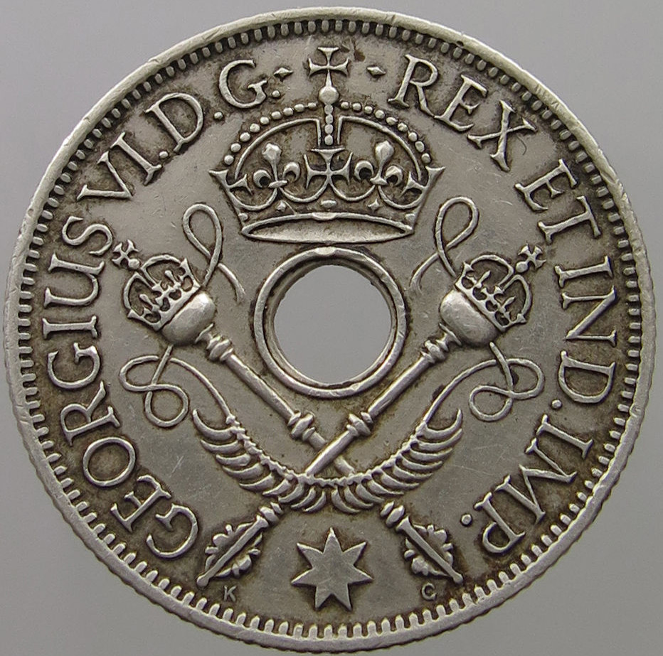 Shilling: Photo New Guinea Shilling 1938
