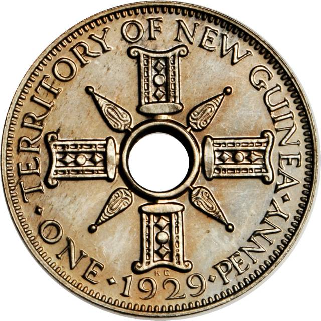 Penny: Photo New Guinea 1929 penny