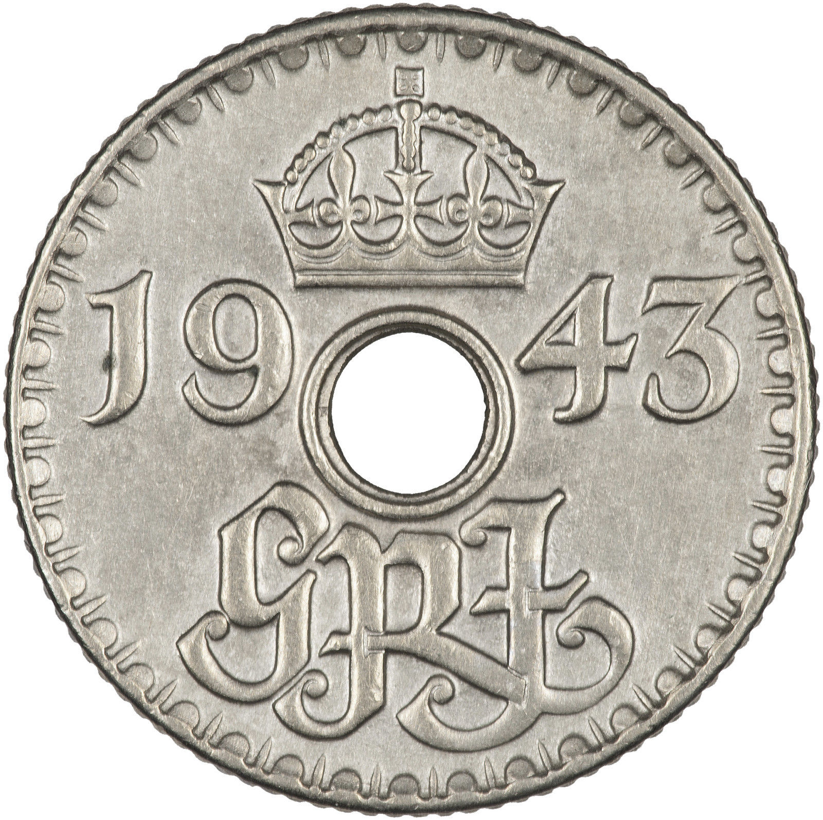 Sixpence: Photo New Guinea 6 Pence 1943