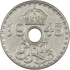 Sixpence 1943: Photo 1943 George VI New Guinea Sixpence