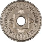 Threepence 1944: Photo New Guinea 1944 3 Pence