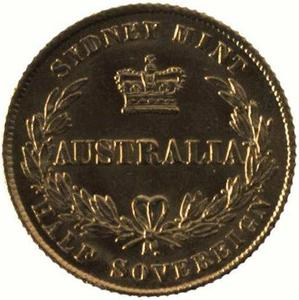 New South Wales / Australian Half Sovereign 1864 - reverse photo