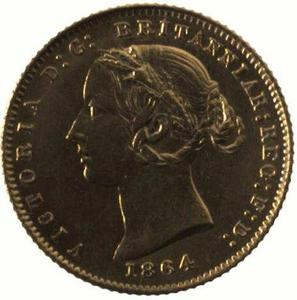 New South Wales / Australian Half Sovereign 1864 - obverse photo