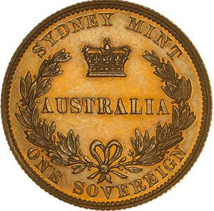 New South Wales / Australian Sovereign 1857 - reverse photo