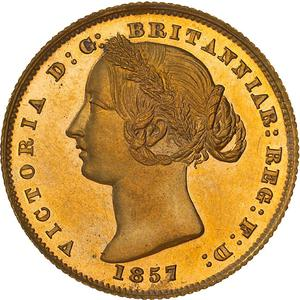 New South Wales / Australian Sovereign 1857 - obverse photo