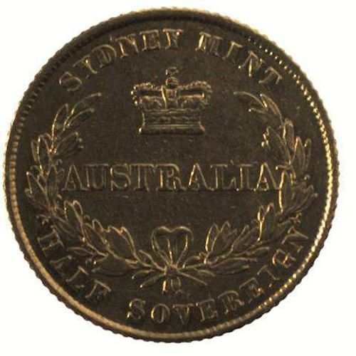 Australian Half Sovereign 1861: Photo Coin - Half Sovereign, Australia, 1861