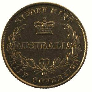 New South Wales / Australian Half Sovereign 1861 - reverse photo