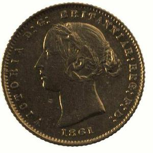 New South Wales / Australian Half Sovereign 1861 - obverse photo