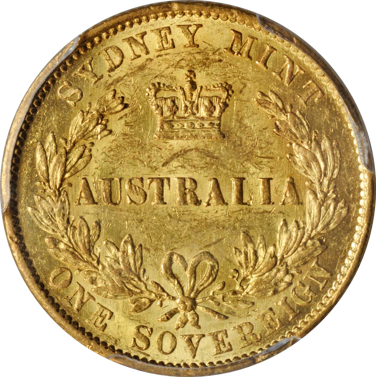 Australian Sovereign: Photo Australia 1858-S sovereign