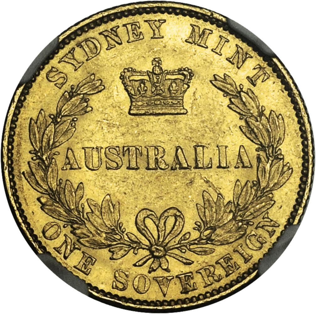 Australian Sovereign 1864: Photo Australia 1864-S sovereign